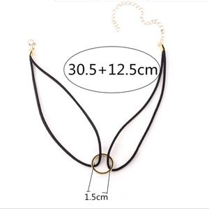 Jewelry - Gold Ring Choker